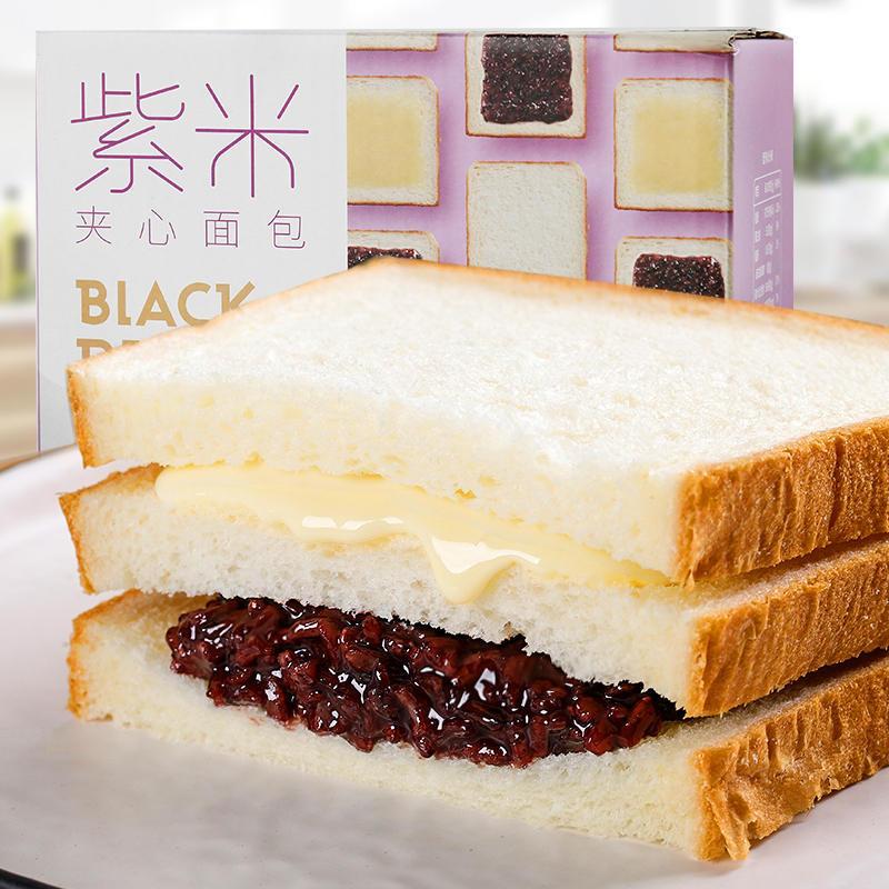 日日煮1000g紫米夹心面包 吐司面包420g