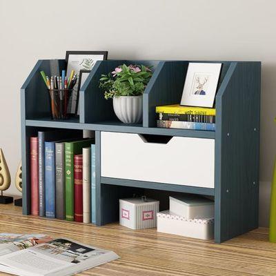 简易小书架桌面办公家用置物架桌上简约学生书柜多层大空间收纳架