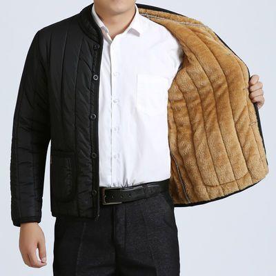 中老年男装外套爸爸装棉衣男加绒加厚棉袄爷爷老年人冬天保暖衣服