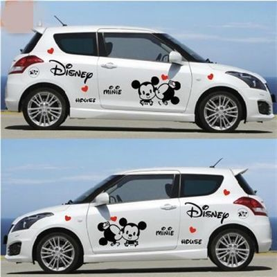 比亚迪F0汽车贴纸整车贴纸QQ3卡通米奇吉利熊猫雅力士全车身拉花