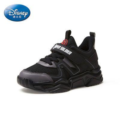 Disney迪士尼美国队长系列冬季新款男童鞋低帮运动鞋保暖儿童鞋子