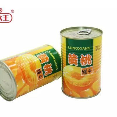 砀山黄桃罐头12罐单罐425克对开83精品桃瓣休闲零食罐头食品美食%