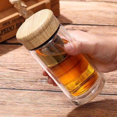 【破损包赔】迷你玻璃杯女小容量便携加厚茶水分离泡茶杯子230ml