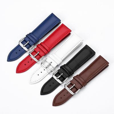 真皮手表带男女针扣牛皮手表链代用天梭浪琴卡西欧天王DW