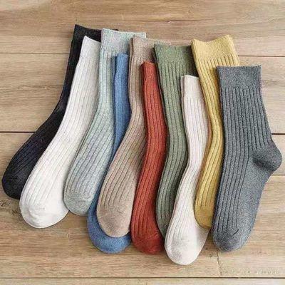 【新店亏本促销】5-10装袜子男女春夏薄款长袜韩版日系学生中筒袜