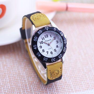 简约休闲韩版可爱儿童手表小男孩中小学生数字女孩石英防水潮腕表