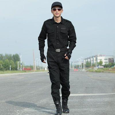 打折101空降师黑色套装男纯棉耐磨特种兵作战服军装迷彩服作训服
