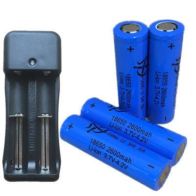 18650锂电池3.7v大容量强光手电筒唱戏机小风扇头灯充电电池电器