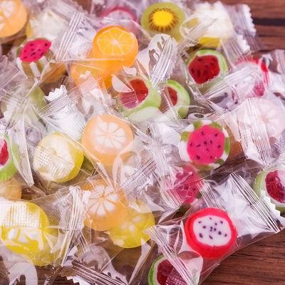 水果糖切片糖混合口味水果味手工小零食结婚创意喜糖硬糖散装糖果