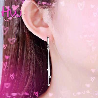 银耳环999纯银流苏耳环长款仙女耳饰韩国气质显脸瘦的耳线百搭