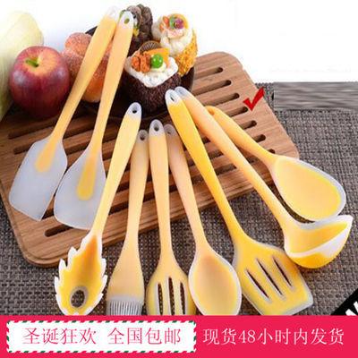 不粘锅锅铲煎铲长柄汤勺食品级硅胶炒菜铲子刮刀勺子厨具儿童辅食