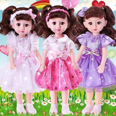 会说话的智能芭比娃娃套装婴儿童仿真超大洋娃娃公主婚纱女孩玩具