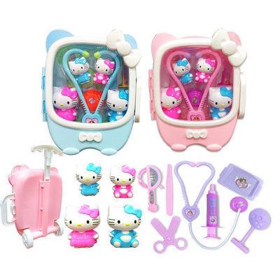 儿童幼儿园过家家小医生玩具套装kt猫拉杆箱女孩hellokitty凯蒂猫