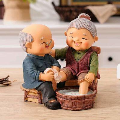 老头老太太老人摆件送爷爷奶奶生日礼物家居装饰品闺蜜结婚礼物