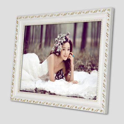 实木相框创意照片框12 16 24 48 60寸婚纱照挂墙相框拼图框画框【3月1日发完】