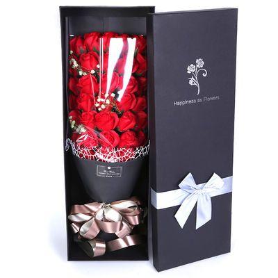 生日礼物女生送女友爱人闺蜜浪漫特别肥皂花香皂花玫瑰花束礼盒【3月1日发完】