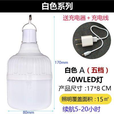 led可充电灯泡家用停电夜市摆地摊灯户外移动超亮无线照明应急灯
