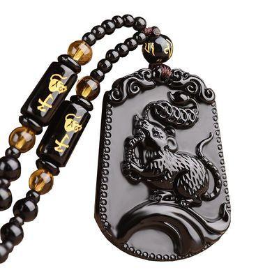十二生肖本命年男女款吊坠辟邪转运保平安水晶项链饰品礼物