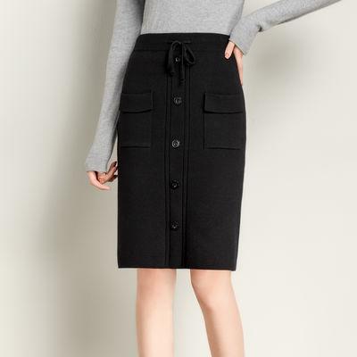 2020春季新款针织半身裙中长款秋冬短裙高腰包臀裙一步裙子女
