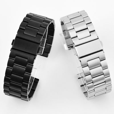 适用天梭欧米茄浪琴阿玛尼AR0389 实心钢表带 男女款手表链