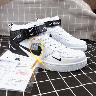 AF1空军一号男女板鞋aj1联名解构双勾OW板鞋白黑高低帮运动小白鞋