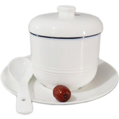 景德镇陶瓷炖盅带内外盖隔水炖燕窝盅蒸蛋汤盅煲汤家用内胆炖罐盅