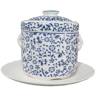 景德镇青花瓷炖盅带双盖隔水炖燕窝盅蒸盅内胆汤盅炖盅碗蒸蛋炖罐
