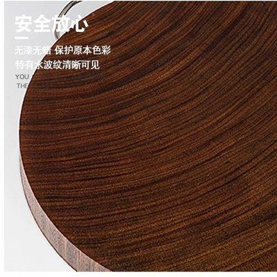越南切菜板实木厨房家用案板圆形红铁木砧板菜墩整木面板刀丁板