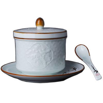 景德镇青花瓷陶瓷炖盅带双盖家用隔水燕窝炖盅釉下彩汤盅炖罐中式