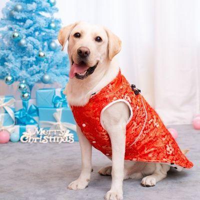 包邮狗狗衣服宠物刺绣女款唐装新年装大狗服饰金毛大型犬厚款唐装