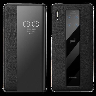 华为mate30RS保时捷手机壳mate30pro保护壳5G版真皮翻盖智能皮套