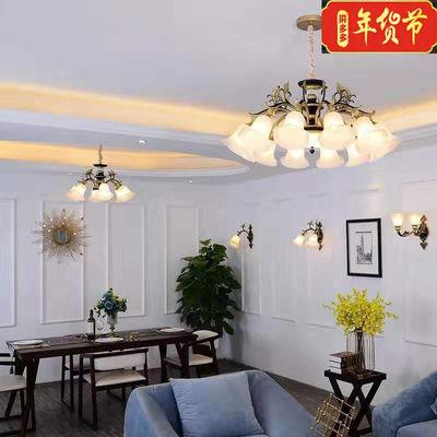 欧式客厅超亮吊灯现代简约卧室餐厅书房简欧大气锌合金水晶灯具