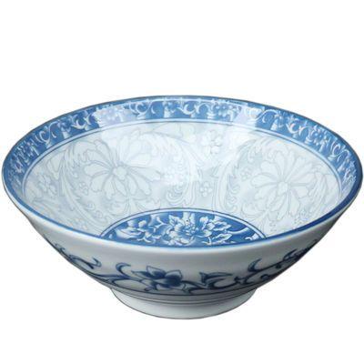 景德镇陶瓷碗盘青花瓷碗家用釉下彩饭碗汤面碗饭盘斗笠碗中式简约