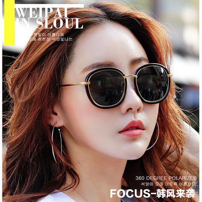 太阳镜女款偏光驾驶镜司机女士复古墨镜时尚框太阳眼镜