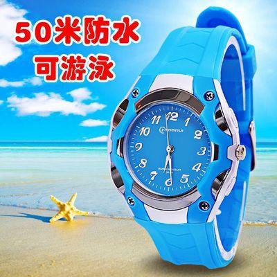 儿童手表指针式男孩电子表防水防摔中小学生手表女小孩手表石英表