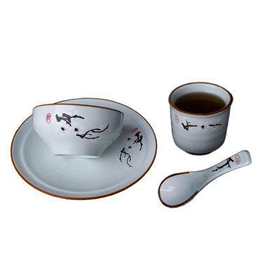 景德镇陶瓷碗碟套装隔水炖盅釉下彩汤盅炖燕窝盅酒店餐位摆台简约