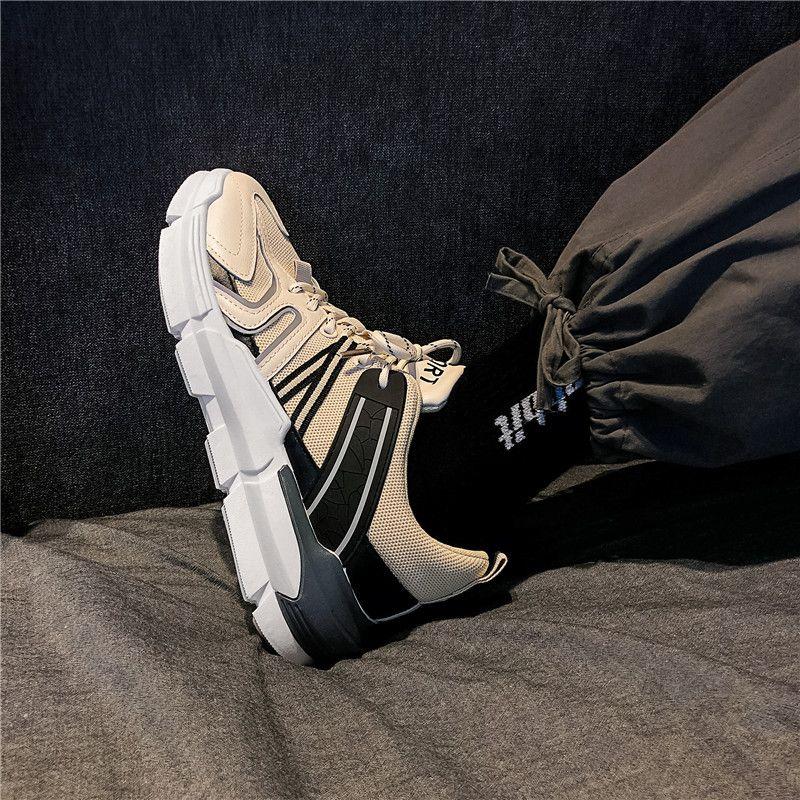 20年新款春季港风增高老爹鞋男网面透气厚底韩版潮流百搭运动潮鞋