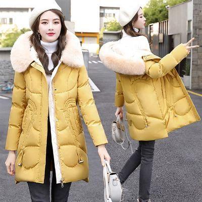 气质百搭2019年冬季显瘦棉衣/棉服保暖中长款长袖