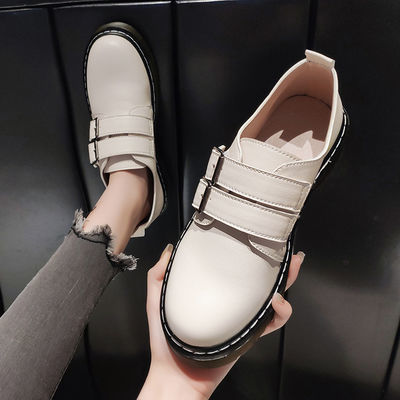 2020春季新款韩版百搭学生系带复古女单鞋黑色小皮鞋女英伦学院风