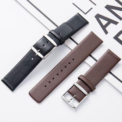 真皮表带男女代用DW手表带针扣ck手表表带超薄针扣手表链