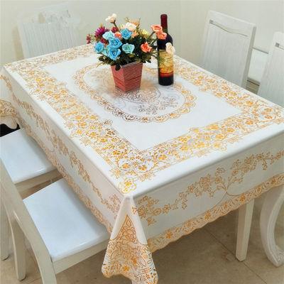 餐桌布防水防烫餐桌台布长方形桌布家用塑料桌布茶几垫客厅台布