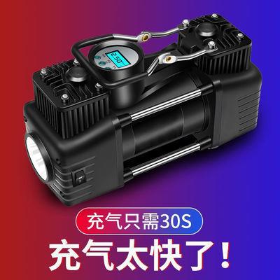 车载双缸充气泵高压大功率打气泵便携式小轿车12v汽车用轮胎加气