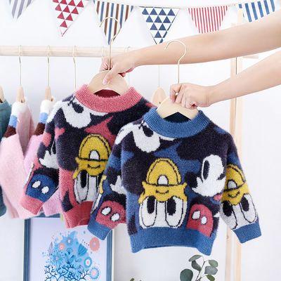 女童毛衣2020新款秋冬韩版潮童装儿童中大童时髦套头加厚上衣洋气