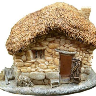 卡通装饰品微景观小摆件人物配件模型石头造景小客厅假山小人