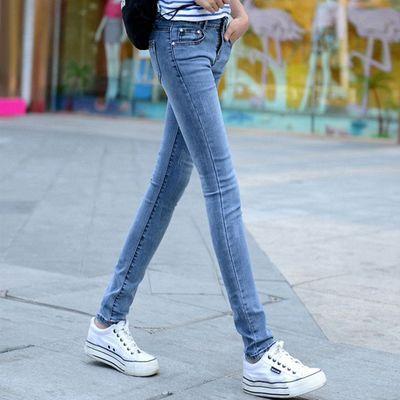 春夏季牛仔裤女小脚弹力修身学生韩版潮流新款高腰显瘦紧身长裤子