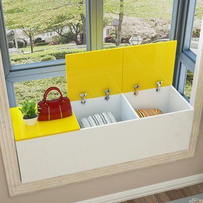 飘窗柜窗台地柜可坐定制卧室落地矮柜收纳柜子自由组合阳台储物柜