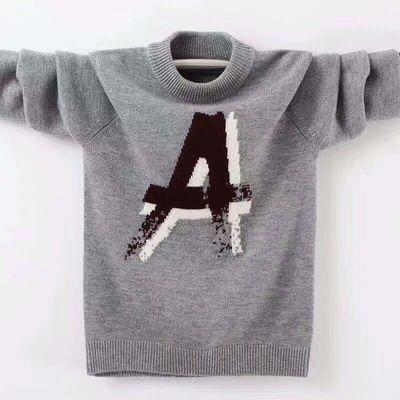 儿童毛衣男童羊绒衫双层加厚童装毛衣秋冬新款中大童针织羊毛衫