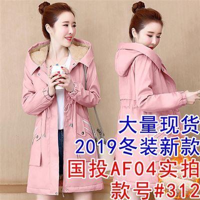 正品女棉衣2019冬装新款韩版收腰显瘦中长款加绒加厚棉服