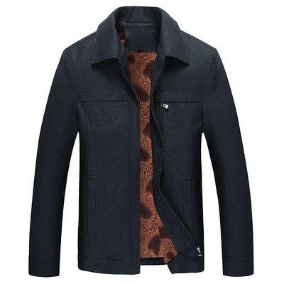 中老年秋冬装男士爸爸装棉衣厚款大码棉袄老年人衣服爷爷男装外套