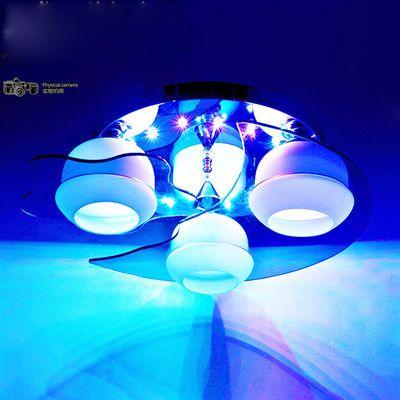 卧室灯具温馨led吸顶灯客厅水晶灯创意儿童房间灯饰圆形餐厅吊灯